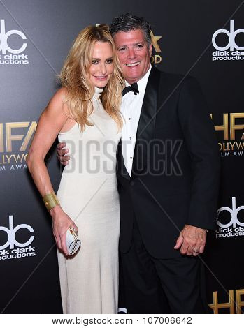 LOS ANGELES - NOV 1:  Taylor Armstrong & John Bluher arrives to the Hollywood Film Awards 2015 on November 1, 2015 in Hollywood, CA.
