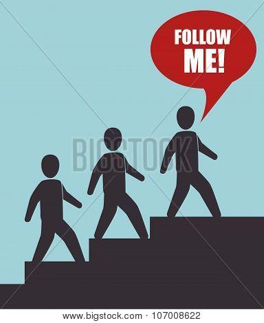 Follow me social trendy design