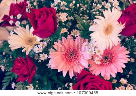 Flower Wedding Decoration, Beautiful Gerbera Flower Blooming Background