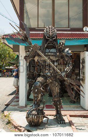 Predator made from scrap metal.
