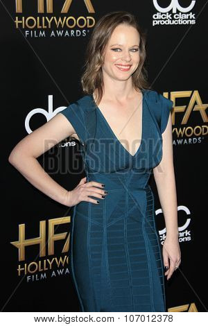 LOS ANGELES - NOV 1:  Thora Birch at the 19th Annual Hollywood Film Awards at the Beverly Hilton Hotel on November 1, 2015 in Beverly Hills, CA