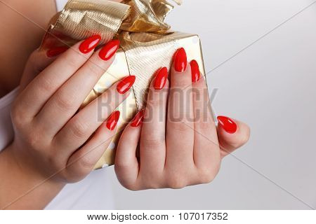 Closeup of Sexy Red Nails