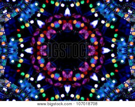 Abstract Kaleidoscopic Purple Texture
