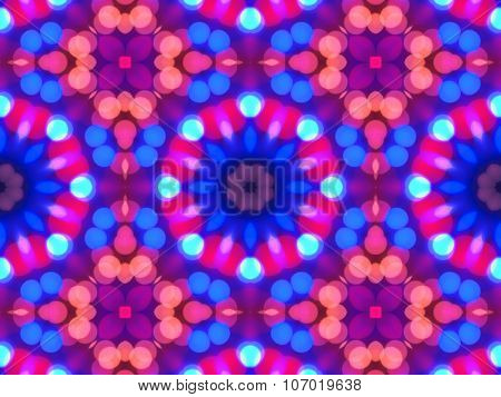 Abstract Colorful Seamless Pattern Kaleidoscope