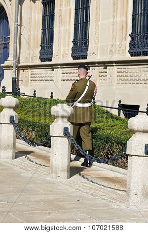 Luxembourg, Luxembourg - Patrolling Soldier