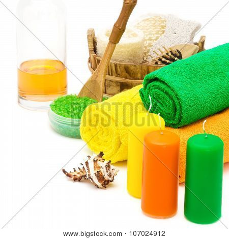 Set Of Bright Spa Accessories