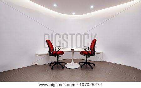 A  Room In The Office For Negotiations And Business Meetings