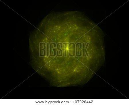Illustartion Of Gold Glittering Star Dust Circle