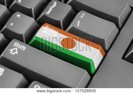 Enter Button With Niger Flag