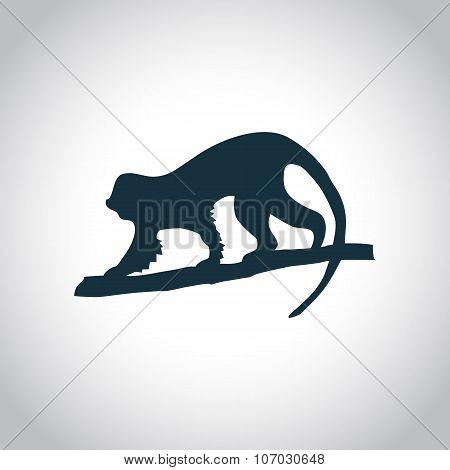 Monkey black icon