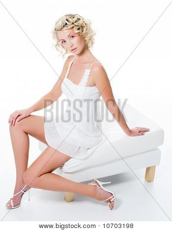 Beautiful Woman With Sexy  Legs