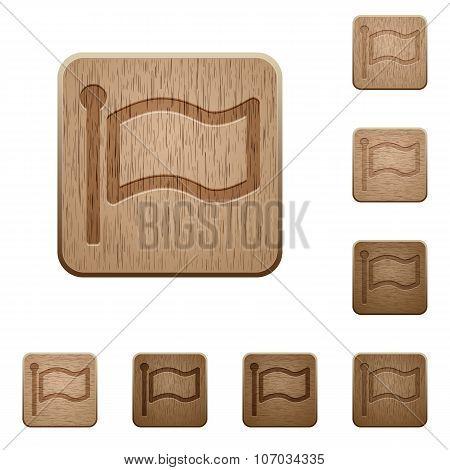 Flag Wooden Buttons
