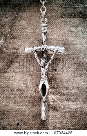 Silver Cross Crucifix