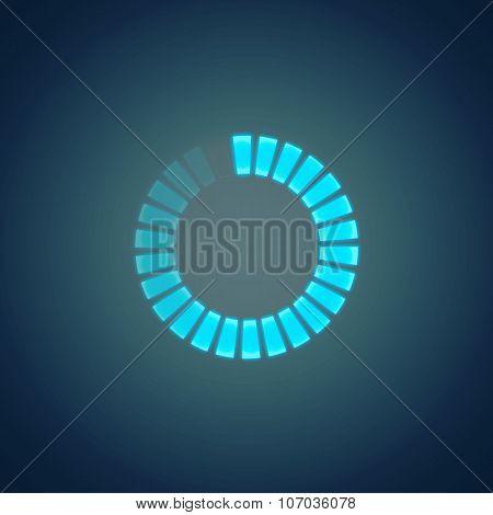 vector  glowing preloader