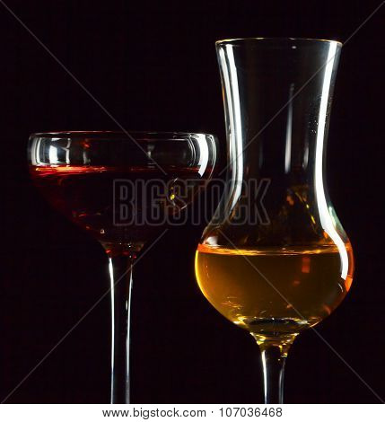 Glasses With Liquor