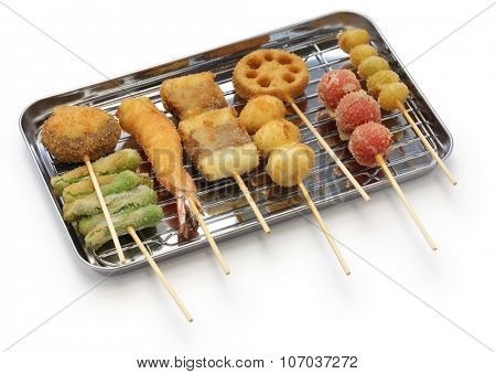 kushiage(deep fried food on a stick),japanese food