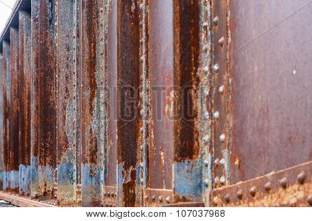 Rusty Girder And Rivets