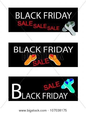 Shoes On Three Black Friday Sale Banners