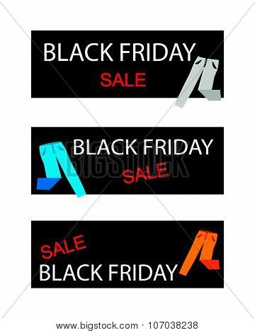 Trousers On A Black Friday Sale Banners