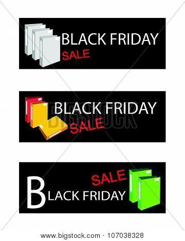Office Folder On Black Friday Sale Banners