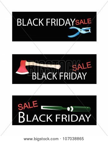 Craft Tools On Three Black Friday Banners