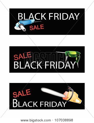 Capenter Tools On Three Black Friday Banners