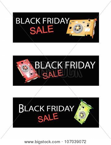 Video Card On Black Friday Sale Banners