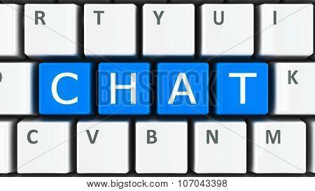Computer Keyboard Chat