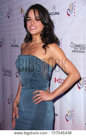 LOS ANGELES - NOV 3:  Michelle Rodriguez at the 11th Annual Chinese American Film Festival Opening Night at the Ricardo Montalban Theater on November 3, 2015 in Los Angeles, CA