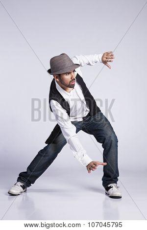 Hip hop dancer showing some movements