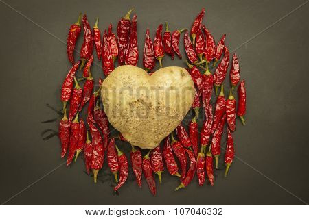 Heart Potato With Red Chili