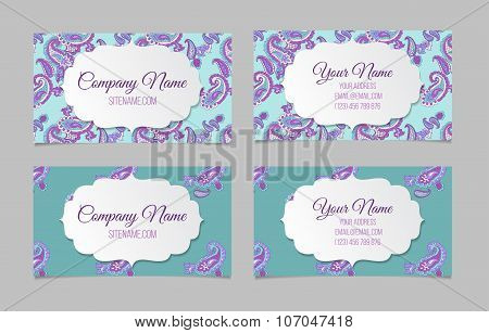 Collection of ornamental business cards