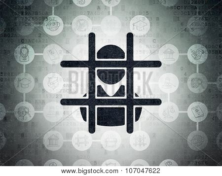 Law concept: Criminal on Digital Paper background