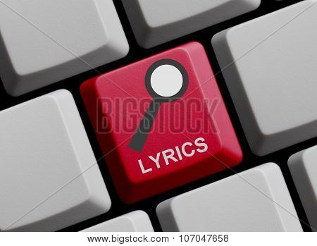 Computer Keyboard: Search For Lyrics