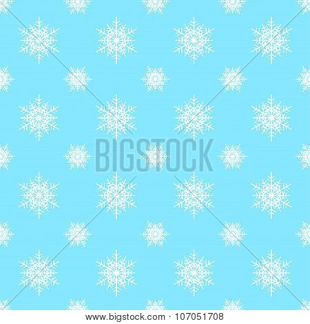 Seamless snowflake Christmas vector background