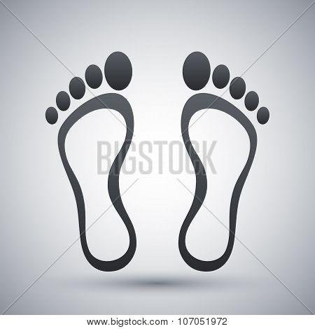 Footprints Icon, Vector