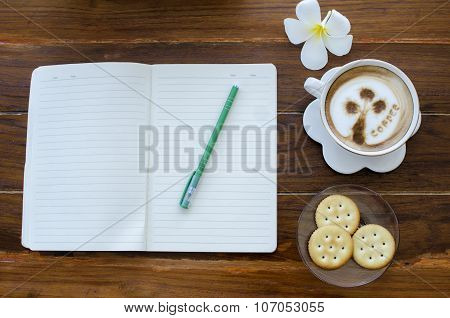 Coffee with cracker