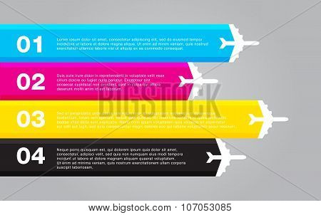 infographic colorful template flat vector