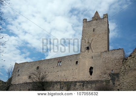 South-east Wall Of Rudelsburg Castle, Germany