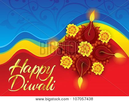 Abstract Artistic Deepawali Background
