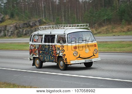 Volkswagen Type 2 Camper Van With A Smile