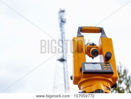 monitoring of telecommunication tower with a theodolite