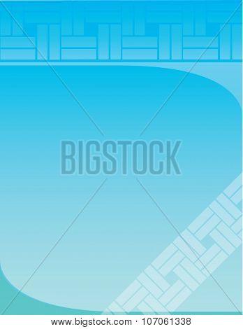Flyer Background Blue Squares