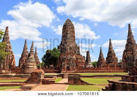 Chaiwatthanaram Temple In Ayutthaya,thailand