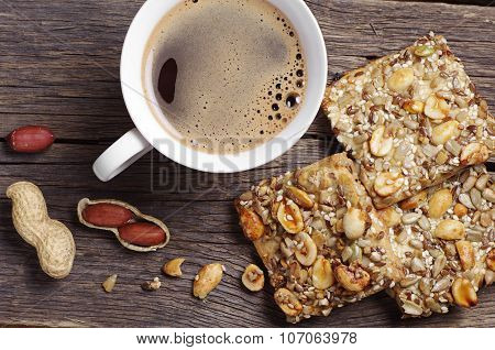 Cookies With Nuts And Coffee
