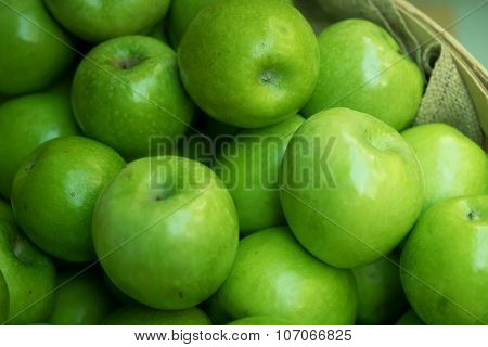 Green Apples at Farmers Market