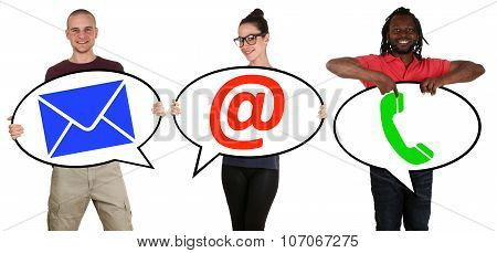 Young People Communication Contact Telephone, Mail Or E-mail Online