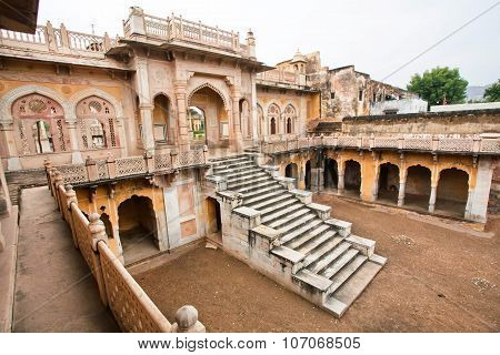 Gaitore Cenotaphs, royal cremation ground and monuments, Jaipur, India
