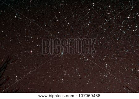 Starfield With Andromeda Galaxy