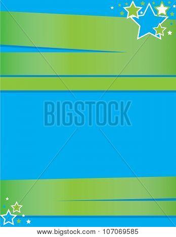 Blue Green Event Flyer